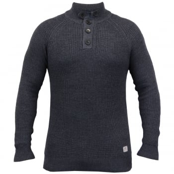 Crosshatch Masons Cotton Pullover Neck Knitted Jumper Night