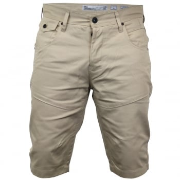 Crosshatch Men Amalaga Designer Cargo Chino Shorts Stone