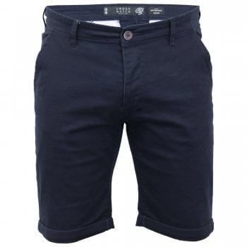 Crosshatch Men New Brandons Designer Cargo Chino Shorts Night Sky