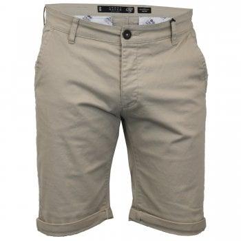 Crosshatch Men New Brandons Designer Cargo Chino Shorts Oxford Tan