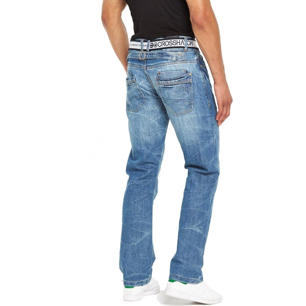 crosshatch mens baltimore straignt leg jeans light used look. Black Bedroom Furniture Sets. Home Design Ideas