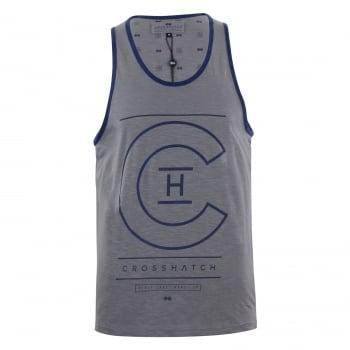 Crosshatch Mens Branded Alfa Casual Vest Frost Grey