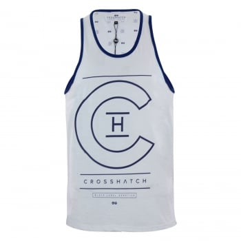 Crosshatch Mens Branded Alfa Casual Vest White