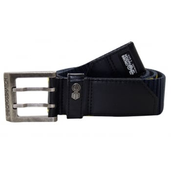 Crosshatch Mens Branded Bevel Canvas Designer Nylon Belt Total Eclipse