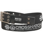 Mens Branded Calibro Canvas Designer Nylon Belt Black