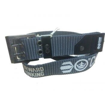Crosshatch Mens Branded Calibro Canvas Designer Nylon Belt Grey