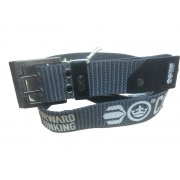 Mens Branded Calibro Canvas Designer Nylon Belt Grey