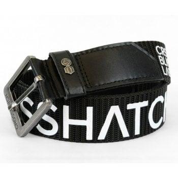 Crosshatch Mens Branded Deramus Canvas Designer Nylon Belt Black