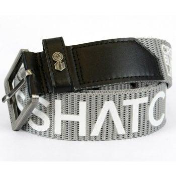 Crosshatch Mens Branded Deramus Canvas Designer Nylon Belt Grey