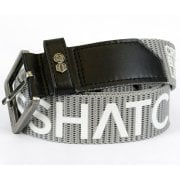Crosshatch Mens Branded Deramus Canvas Designer Nylon Belt Grey