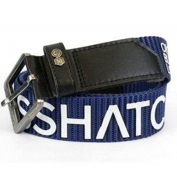Crosshatch Mens Branded Deramus Canvas Designer Nylon Belt Indigo
