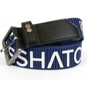 Crosshatch Mens Branded Deramus Canvas Designer Nylon Belt Indigo