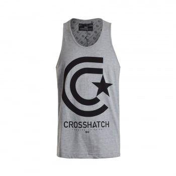 Crosshatch Mens Branded Kimmel Casual Vest Grey Marl