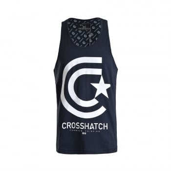 Crosshatch Mens Branded Kimmel Casual Vest Total Eclipse