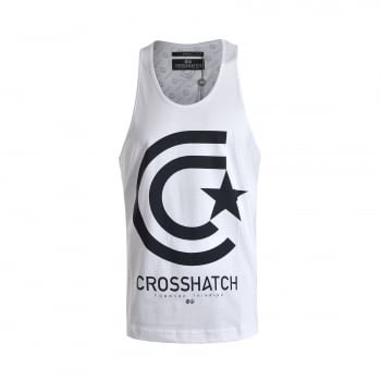 Crosshatch Mens Branded Kimmel Casual Vest White