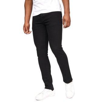Crosshatch Mens Buraca Slim Fit Jeans Black Wash