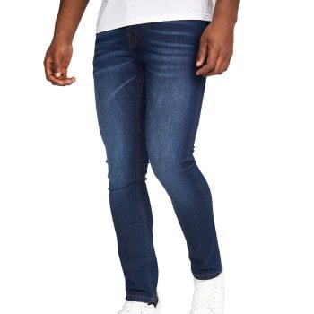 Crosshatch Mens Buraca Slim Fit Jeans Dark Wash