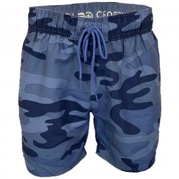 Crosshatch Mens Designer Army Flofast Swimming Trunks Shorts Blue Camo