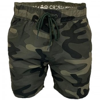 Crosshatch Mens Designer Army Flofast Swimming Trunks Shorts Olive Camo