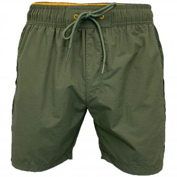 Crosshatch Mens Designer Army Mansons Swimming Trunks Shorts Olive
