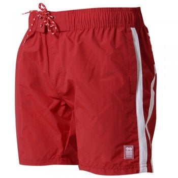 Crosshatch Mens Designer Brekkon Swimming Trunks Shorts Barbados Cherry