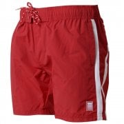 Crosshatch Mens Designer Brekkon Swimming Trunks Shorts Barbados Cherry