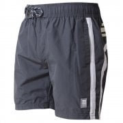 Crosshatch Mens Designer Brekkon Swimming Trunks Shorts Dark Shadow