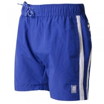 Crosshatch Mens Designer Brekkon Swimming Trunks Shorts Monaco Blue