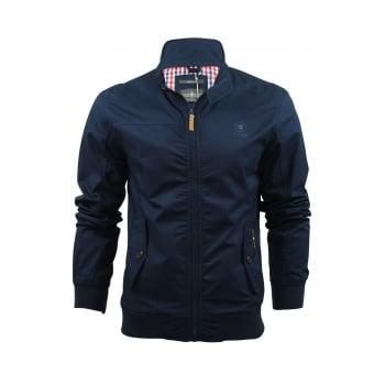 Crosshatch Mens Designer Harrington Harrinz 2 Jacket Dress Blues