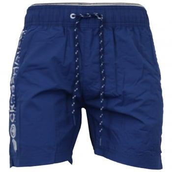 Crosshatch Mens Designer Kavana Swimming Trunks Shorts Estate Blue