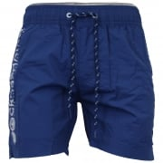 Crosshatch Mens Designer Kavana Swimming Trunks Shorts Estate Blue