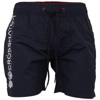 Crosshatch Mens Designer Kavana Swimming Trunks Shorts Navy