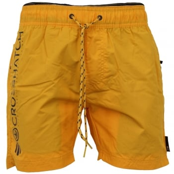 Crosshatch Mens Designer Kavana Swimming Trunks Shorts Saffron