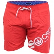 Crosshatch Mens Designer Makins Swimming Trunks Shorts Barbados Cherry