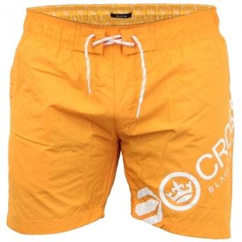 Crosshatch Mens Designer Makins Swimming Trunks Shorts Orange Pepper
