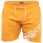Crosshatch Mens Designer Makins Swimming Trunks Shorts Orange Pepper