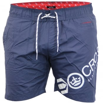 Crosshatch Mens Designer Makins Swimming Trunks Shorts Total Eclipse