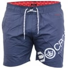 Crosshatch Mens Designer Makins Swimming Trunks Shorts Total Eclipse