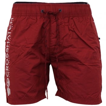 Crosshatch Mens Designer New Kavana Swimming Trunks Shorts Biking Red