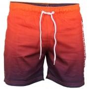 Crosshatch Mens Designer Norlane Swimming Trunks Shorts Sunset