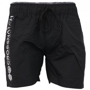 Crosshatch Mens Designer Pedro Swimming Trunks Surf Board Mesh Lined Shorts Black