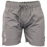 Crosshatch Mens Designer Pedro Swimming Trunks Surf Board Mesh Lined Shorts Titanium