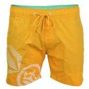 Crosshatch Mens Designer Ramirez Swimming Trunks Shorts Yellow