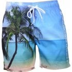 Crosshatch Mens Designer Shelford Swimming Photo Print Trunks Shorts Island