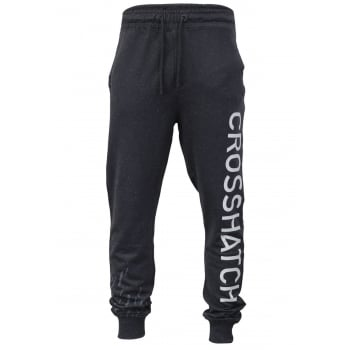Crosshatch Mens Grus Track Suit Bottoms Sweat Pant Jogger Bottoms Magnet Marl