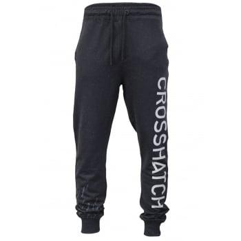 Crosshatch Mens Grus Track Suit Bottoms Sweat Pant Jogger Bottoms Magnet Marl