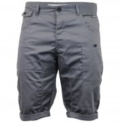 Crosshatch Mens Kractus Designer Cargo Chino Shorts Charcoal