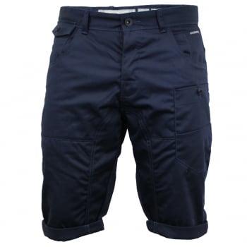 Crosshatch Mens Kractus Designer Cargo Chino Shorts Navy