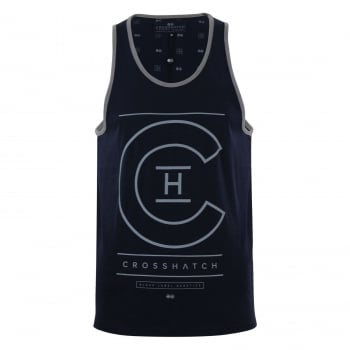 Crosshatch Mens New Branded Alfa Casual Vest Night Sky