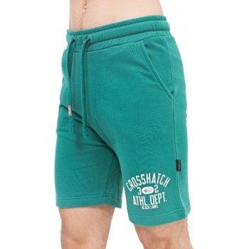 Crosshatch Mens New Designer Loopworth Jogger Casual Shorts Green
